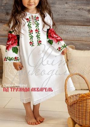 Заготовка плаття ПД Троянда акварель Світ рукоділля