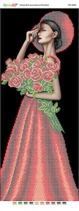 Дівчина з букетом троянд ПМ-4094 Сяйво БСР
