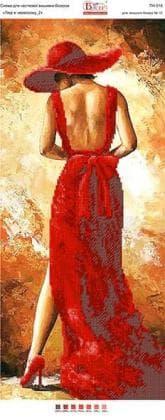 Панно. Леді в червоному-2 ПН-018  Вишиванка