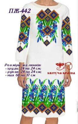 Заготовка  для плаття ПЖ-442 Квітуча країна