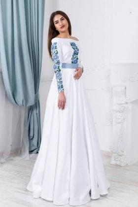 Заготовка для плаття ПЖ Борщівські мотиви 19 блакит 3м Гармонія