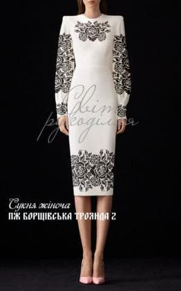 Заготовка плаття ПЖ Борщівська троянда 2 Світ рукоділля