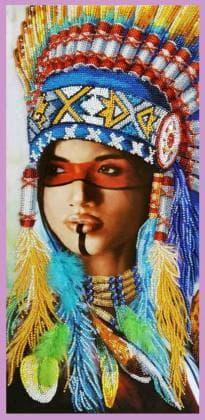 Індіанська дівчина Р-419 Картини бісером