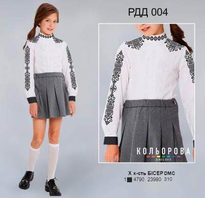 Рубашка комбінована для дівчинки РДД-004 Кольорова