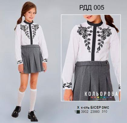 Рубашка комбінована для дівчинки РДД-005 Кольорова