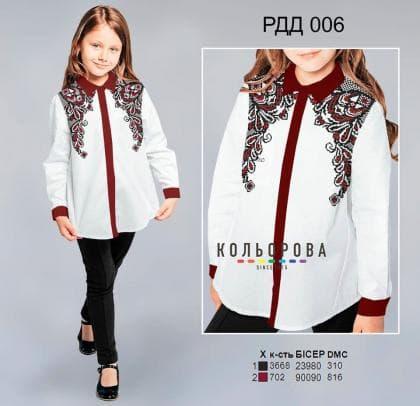 Рубашка комбінована для дівчинки РДД-006 Кольорова