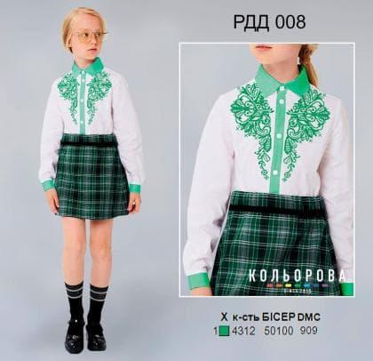 Рубашка комбінована для дівчинки РДД-008 Кольорова