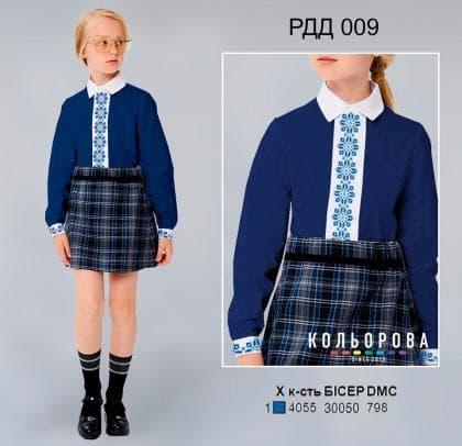 Рубашка комбінована для дівчинки РДД-009 Кольорова