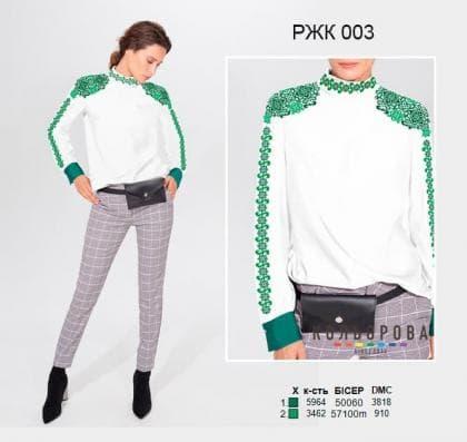 Рубашка жіноча комбінована РЖК-003 Кольорова