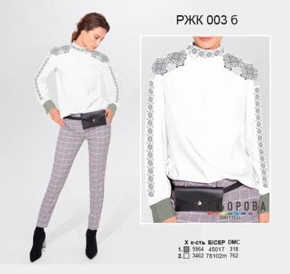 Рубашка жіноча комбінована РЖК-003 Б Кольорова