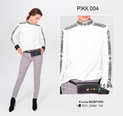 Рубашка жіноча комбінована РЖК-004 Кольорова
