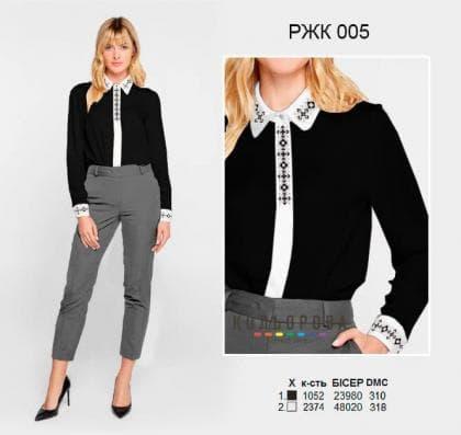 Рубашка жіноча комбінована РЖК-005 Кольорова