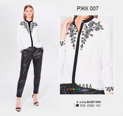 Рубашка жіноча комбінована РЖК-007 Кольорова