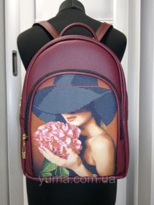 Рюкзак під вишивку М 2 С 1 Бордо ЮМА