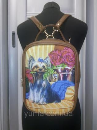 Рюкзак-сумка під вишивку М 1 С 12 Коричневий ЮМА