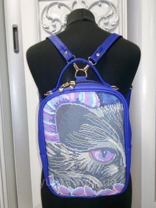 Рюкзак-сумка під вишивку М 1 С 16 Синій ЮМА