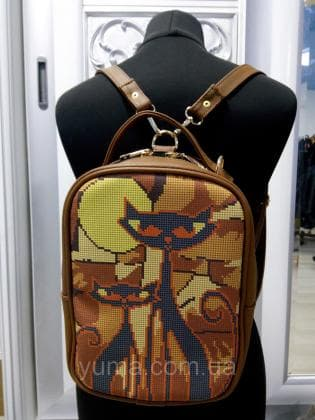 Рюкзак-сумка під вишивку М 1 С 17 Коричневий ЮМА