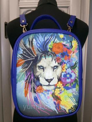 Рюкзак-сумка під вишивку М 1 С 19 Синій ЮМА