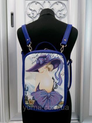 Рюкзак-сумка під вишивку М 1 С 2 Синій ЮМА