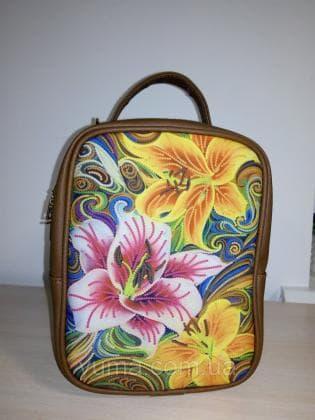 Рюкзак-сумка під вишивку М 1 С 23 Коричневий ЮМА