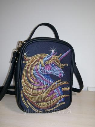 Рюкзак-сумка під вишивку М 1 С 24 Чорний ЮМА