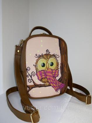 Рюкзак-сумка під вишивку М 1 С 4 Коричневий ЮМА