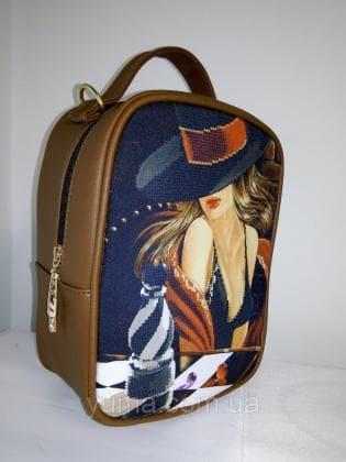 Рюкзак-сумка під вишивку М 1 С 6 Коричневий ЮМА
