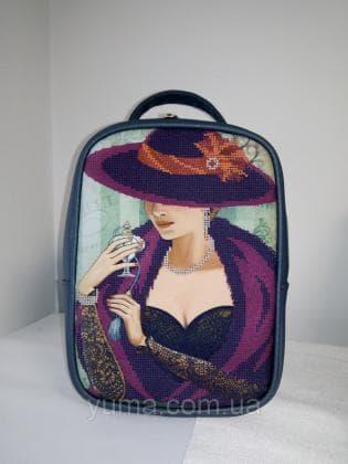 Рюкзак-сумка під вишивку М 1 С 8 мокрий асфальт ЮМА