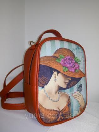 Рюкзак-сумка під вишивку М 1 С 9 червоний ЮМА