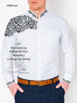 Заготовка для сорочки СЧ Дизайнерська Борщівська троянда 2 друк на спинці Світ рукоділля