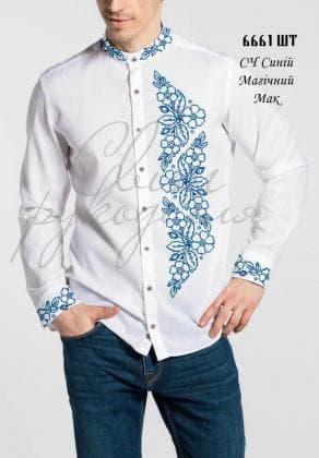 Заготовка для сорочки СЧ  Синій Магічний мак Світ рукоділля