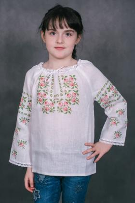 Пошита блузочка для дівчинки ШВД-01 Княгиня Ольга