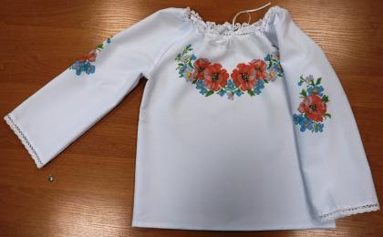 Пошита блузочка для дівчинки ШВД-02 Княгиня Ольга