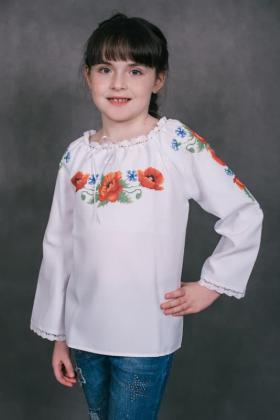 Пошита блузочка для дівчинки ШВД-03 Княгиня Ольга