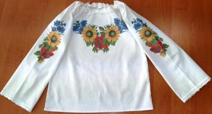 Пошита блузочка для дівчинки ШВД-04 Княгиня Ольга