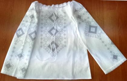 Пошита блузочка для дівчинки ШВД-05 Княгиня Ольга