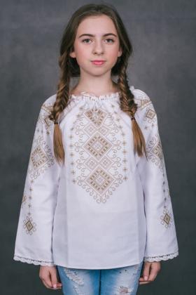 Пошита блузочка для дівчинки ШВД-06 Княгиня Ольга