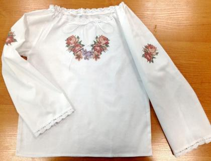 Пошита блузочка для дівчинки ШВД-08 Княгиня Ольга