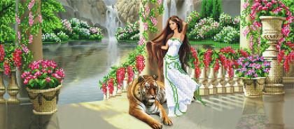 Дівчина з тигром