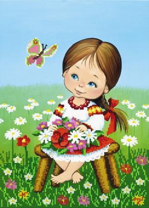 Дівчинка з метеликом