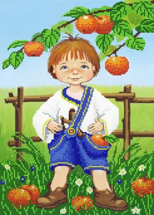Хлопчик з яблуками