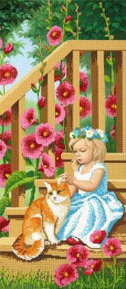 Дівчинка з котиком