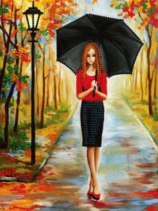 Дівчина з парасолькою SI-708а Світарт