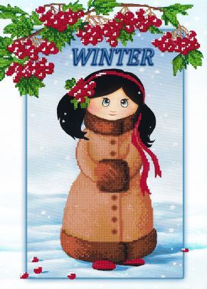 Дівчинка зима
