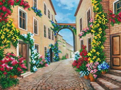 Вуличка в квітах