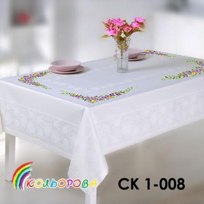 Заготовка скатертини СК 1-008 Кольорова