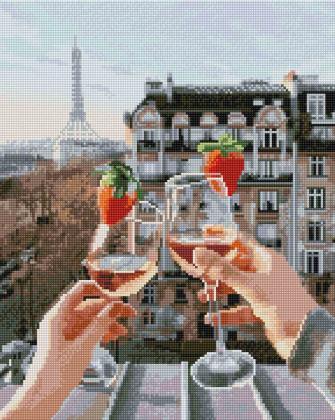 Тільки ми і Париж SP077 Алмазна мозаїка IF