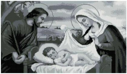 Святе сімейство SS807 Алмазна мозаїка IF