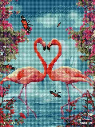 Рожеві фламінго ST449 Алмазна мозаїка IF