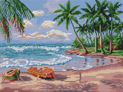 Море і пальми ST454 Алмазна мозаїка IF